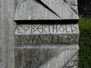 L. Rumold: Holzgrabmal für B. Rumold