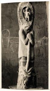 B. Rumold: Heiliger Christopherus mit Jesuskind, Meisterstück 1962