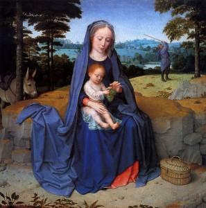 Gerard David (1460-1523): Die Heilige Familie bei der Rast auf der Flucht nach Ägypten