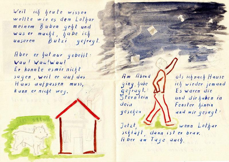 Brief an Lothar Rumold aus Oberammergau am 30.11.1957