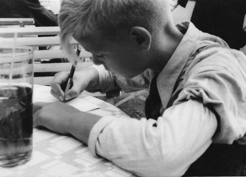 Berthold Rumold im Alter von ca. 10 Jahren (1939)
